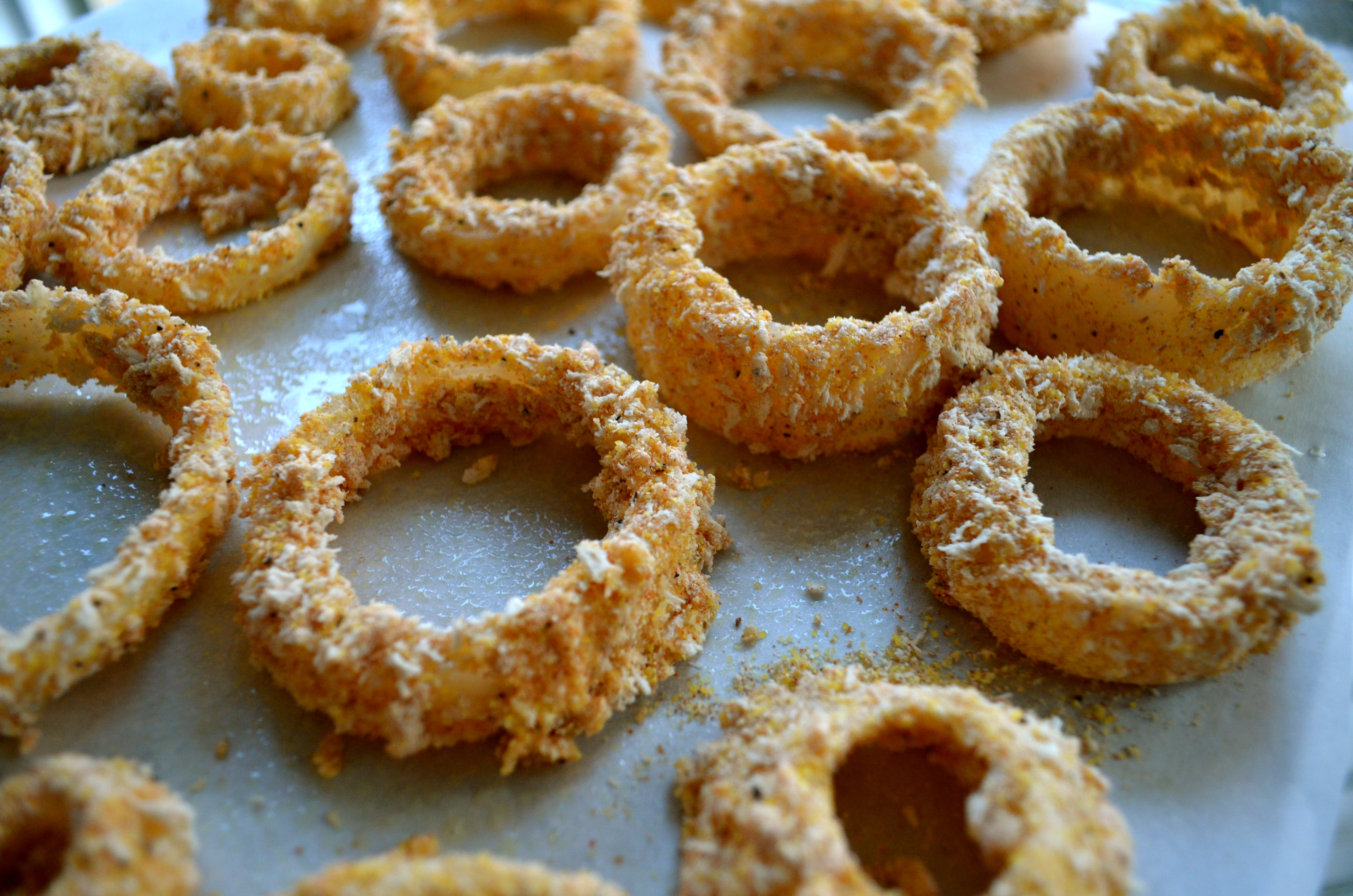 how to make onion rings without flour