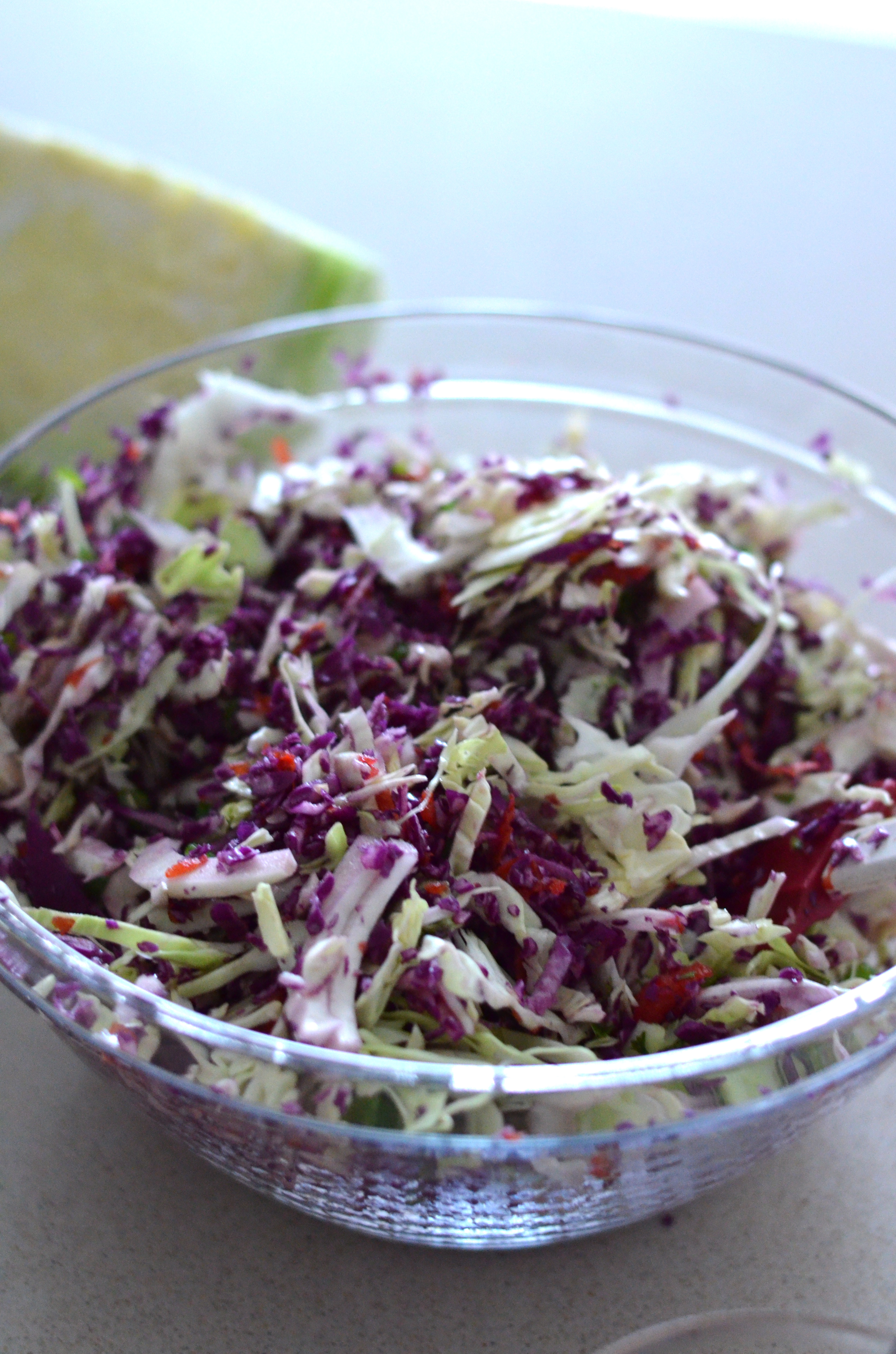 Asian Slaw with Ginger Peanut Dressing | Mikey's In My Kitchen